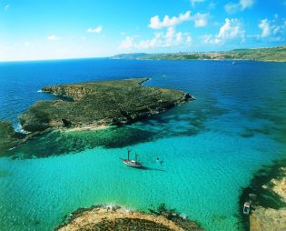 Explore the tiny island of Comino and swim in the Blue Lagoon