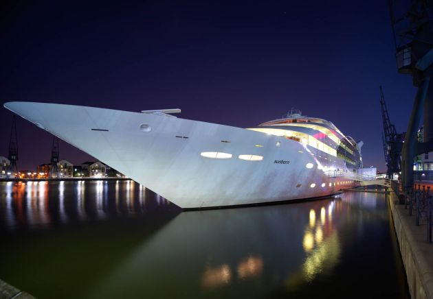 Pascale Hayward Explores The Sunborn Yacht, an Exclusive 4-Star Hotel in London