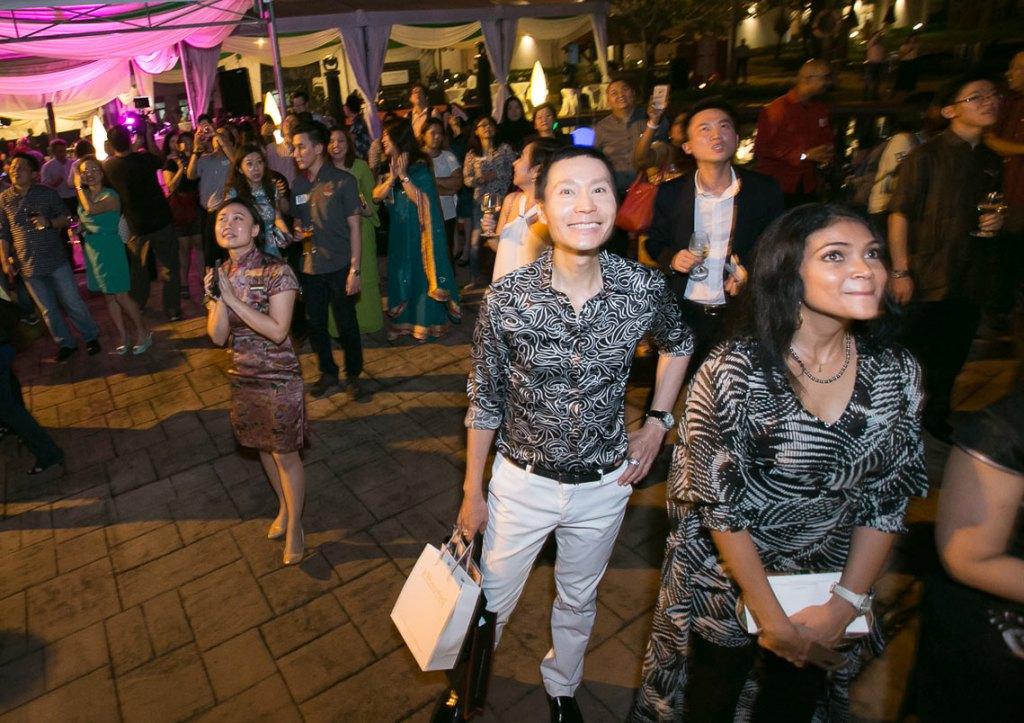 Ong Chin Huat enjoying the celebrations at the Club Saujana Resort