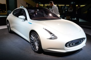 The pre-production version of the Thunder Power EV was unveiled to the world's press at the Frankfurt Motor Show