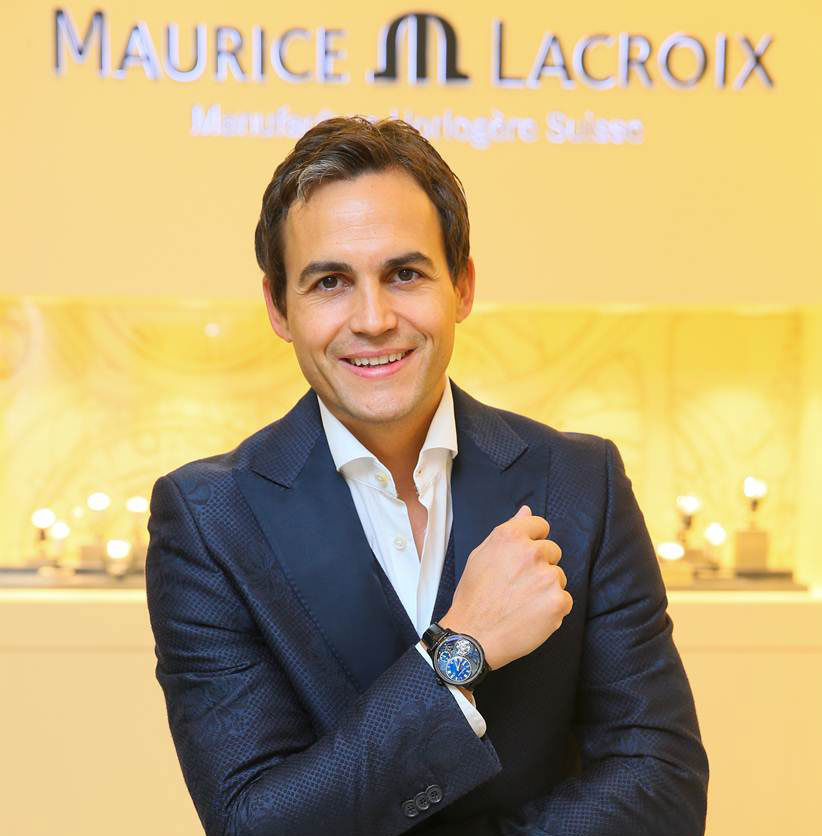Stéphane Waser, the Managing Director of Maurice Lacroix