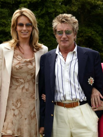 Mr and Mrs Rod Stewart. Photograph (C) Stephen Daniels