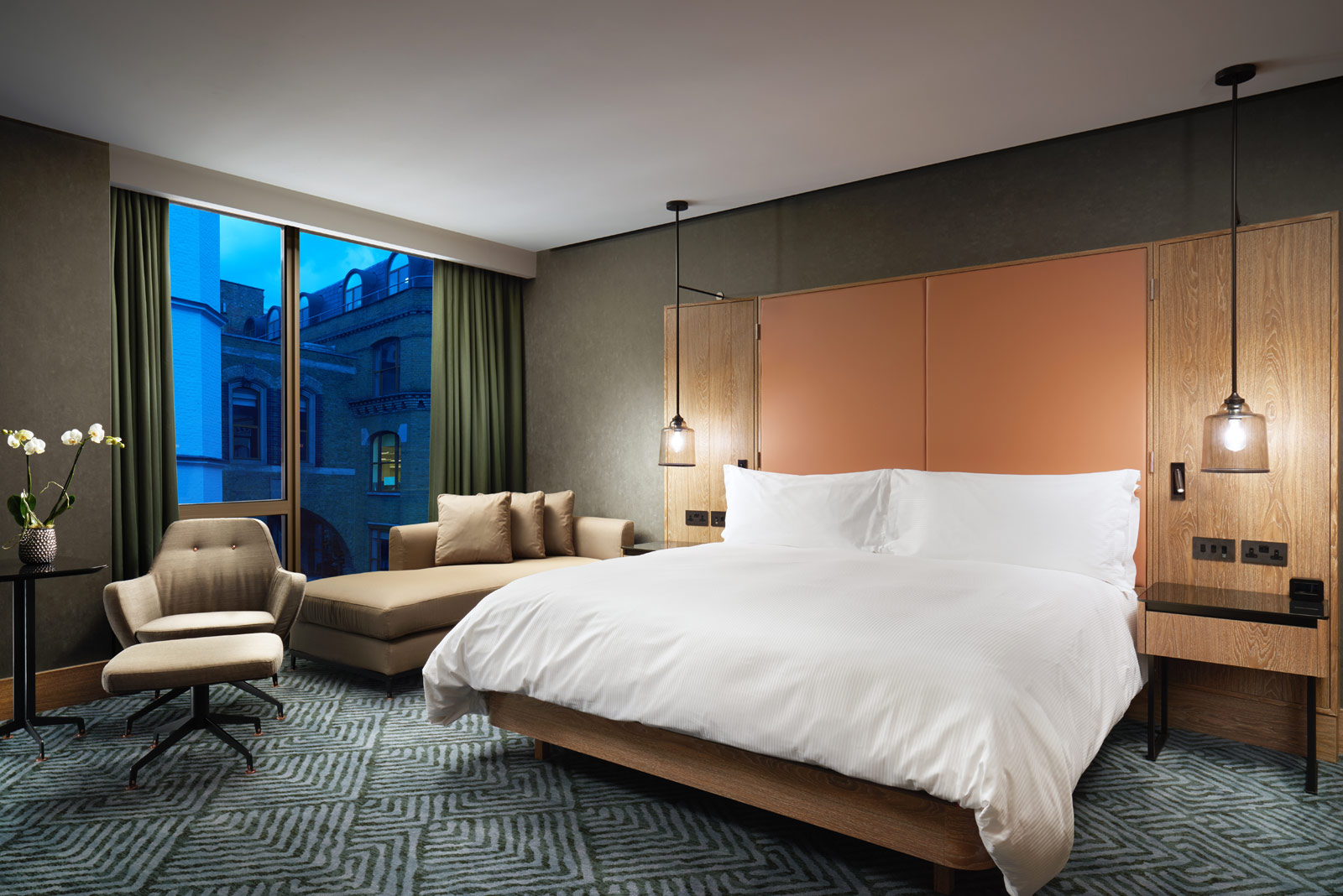 Bedroom suite at the Hilton London Bankside