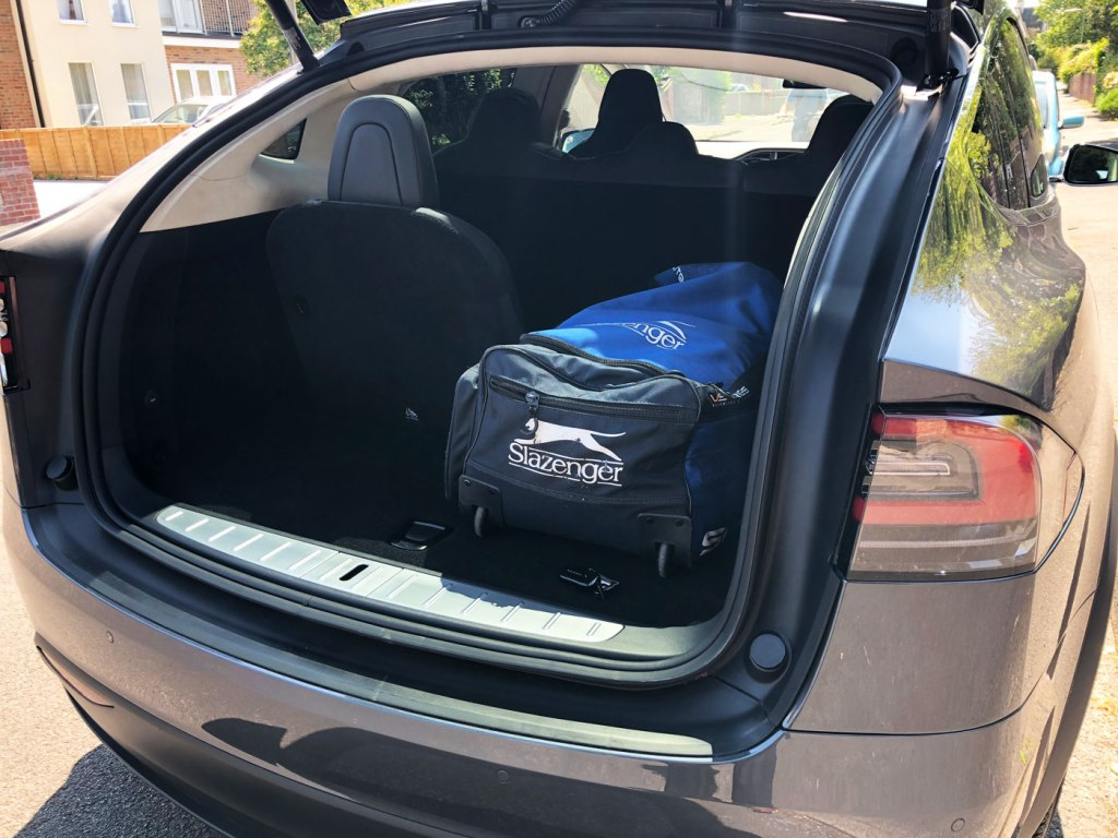 Tesla claims the Model X has the most storage room of any SUV in its class