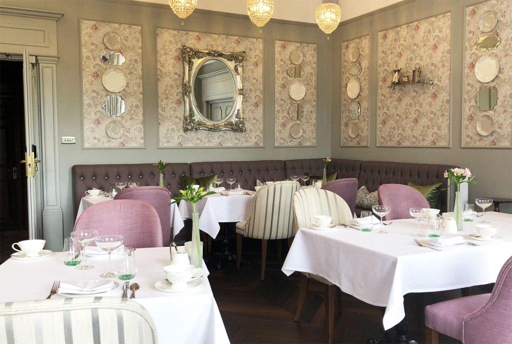 Laura Ashley designed tea room at Burnham Beeches