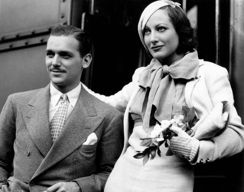 Douglas Fairbanks Jr with his first wife Joan Crawford