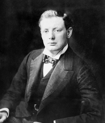 A photograph of a young Winston Churchill.