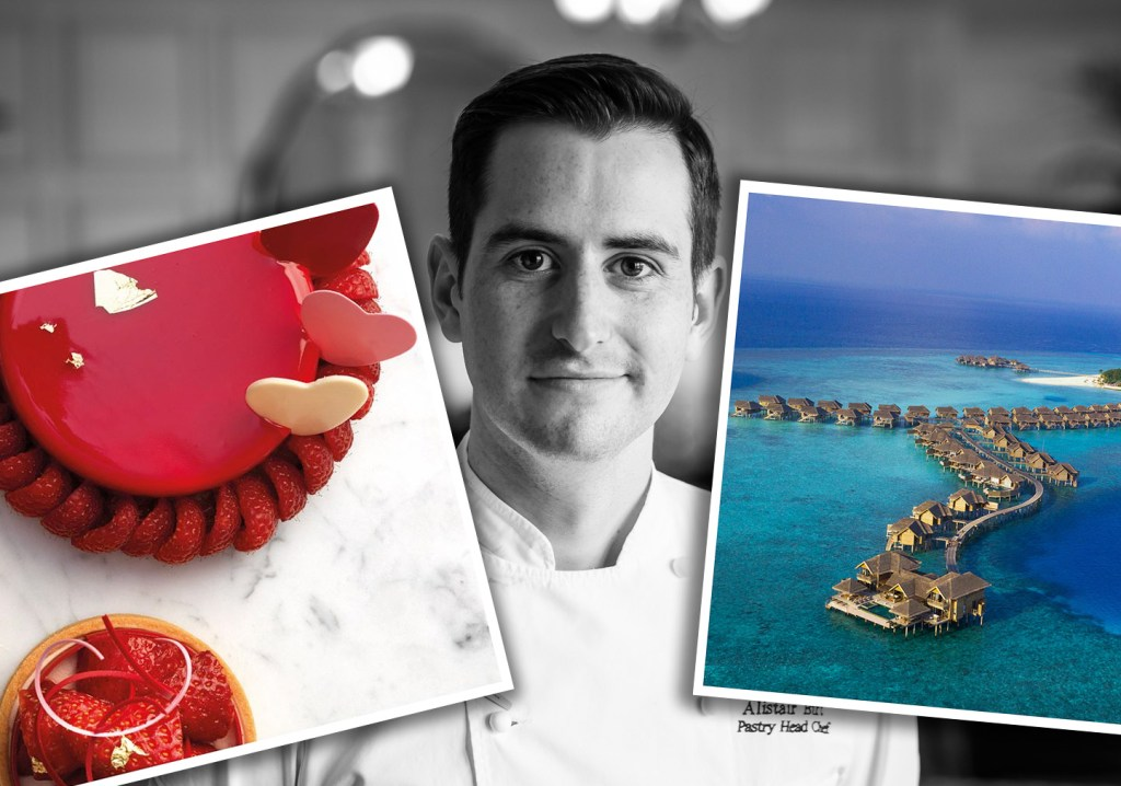 Alistair Birt, Head Pastry Chef of Harrods will go beyond chocolate in the Maldives.