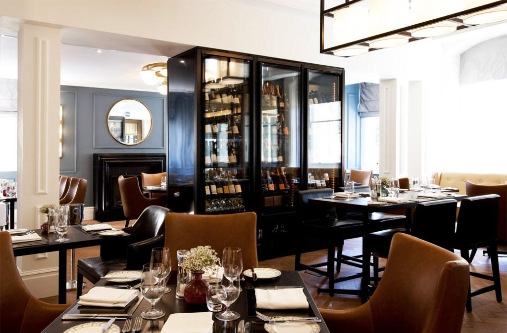 The restaurant at the Gainsborough Bath Spa Hotel.