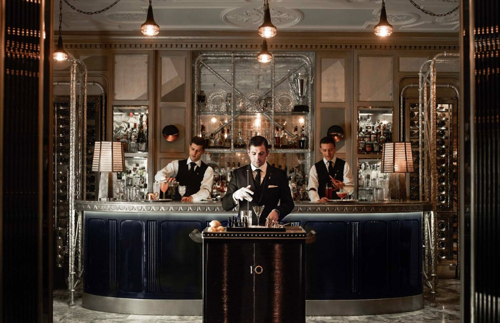 The renowned Connaught Bar in Mayfair, London.