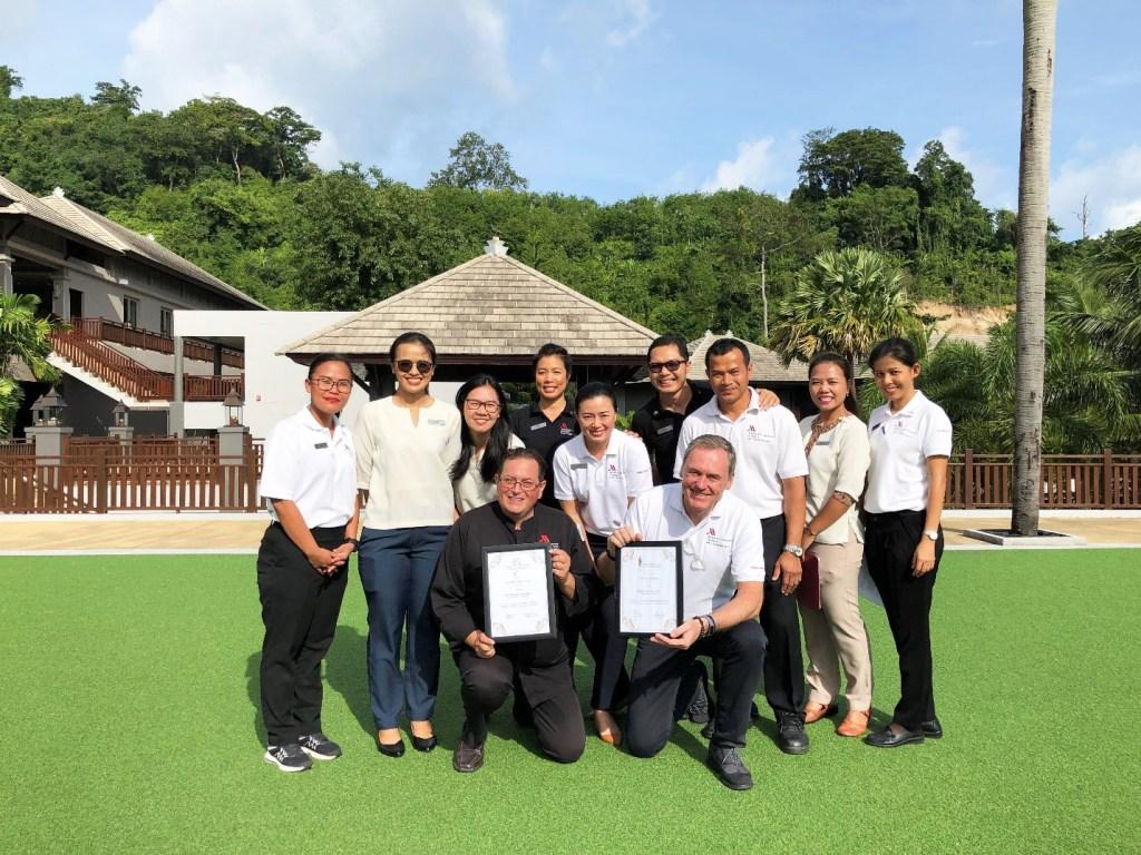 Some of the team at the Phuket Marriott Resort and Spa, Nai Yang Beach