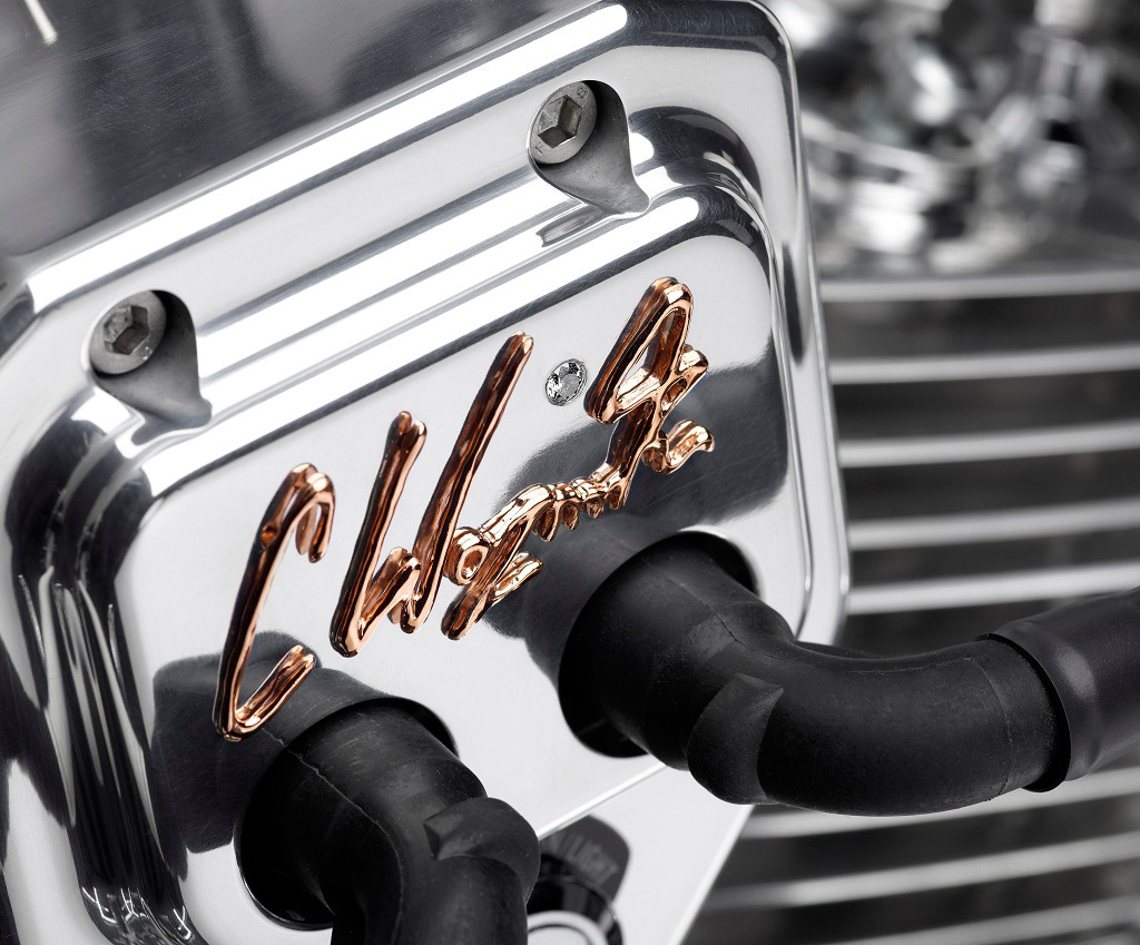 The detail on a Uffe Lauge Jensen motorcycle