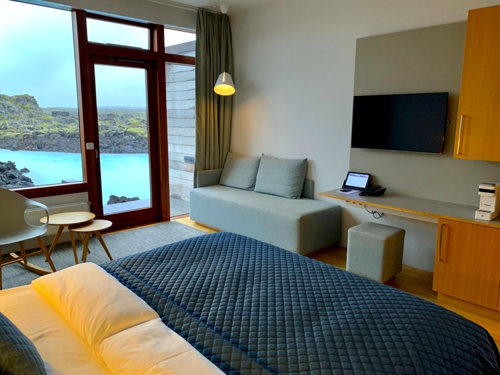Deluxe room in the Silica Hotel