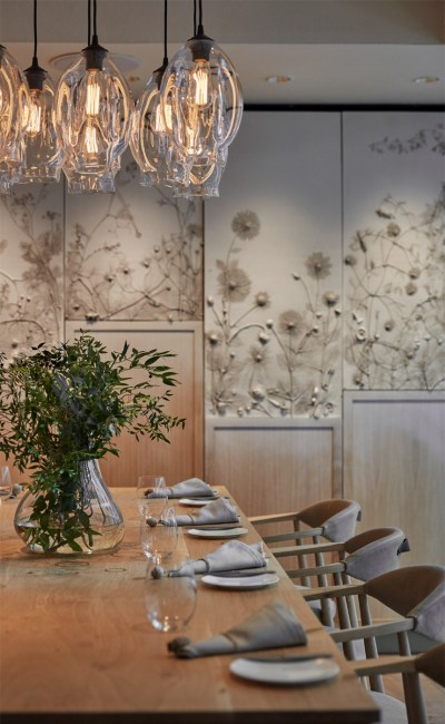 A table at Hide Restaurant in Piccadilly