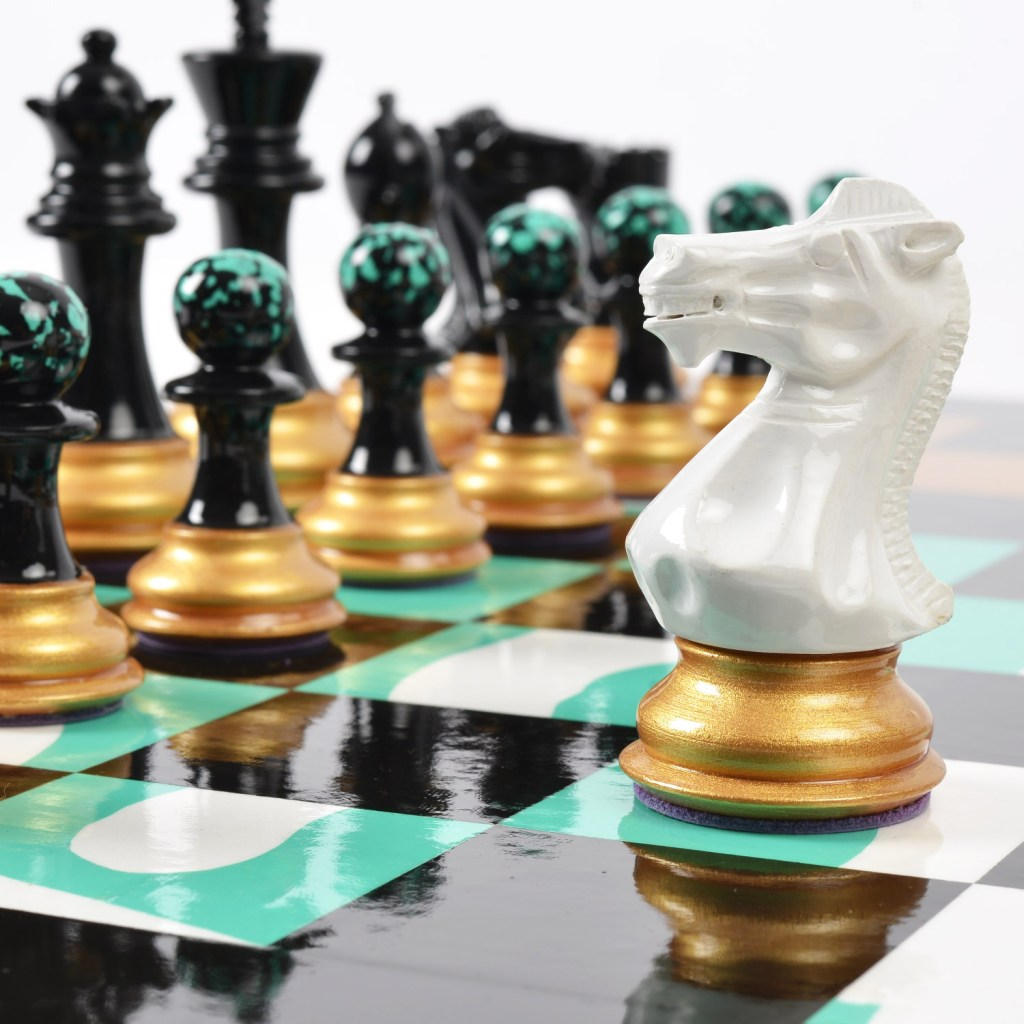 Purling London Art Chess by Darren John (Turquoise)