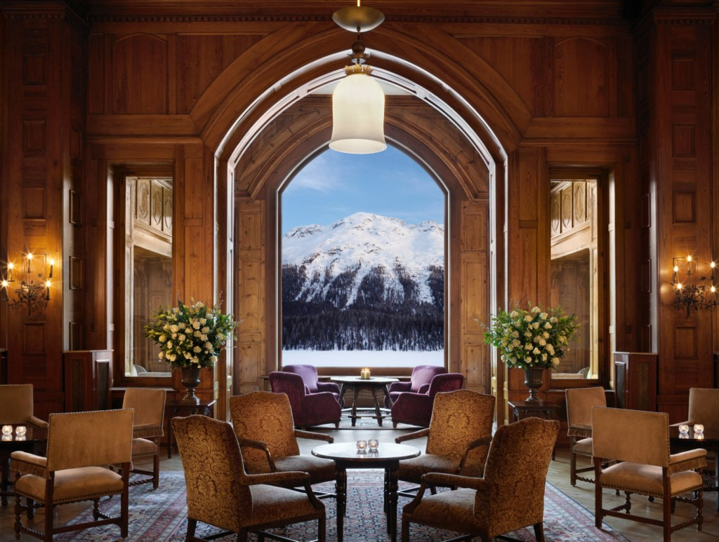 Badrutt's Palace Hotel lobby. Photo by Paul Thuysbaert.