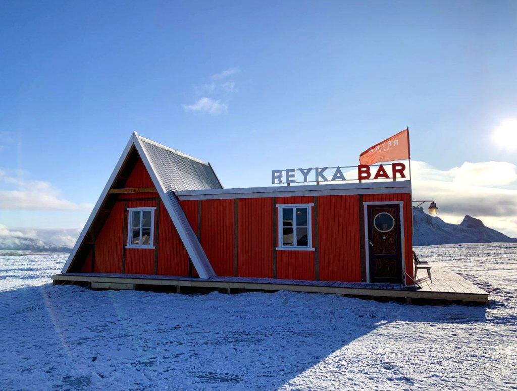 Rekya Vodka pop-up bar on Langjökull Glacier