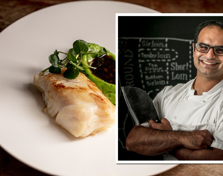 Chef Behzad Gotla at Butler's Wharf