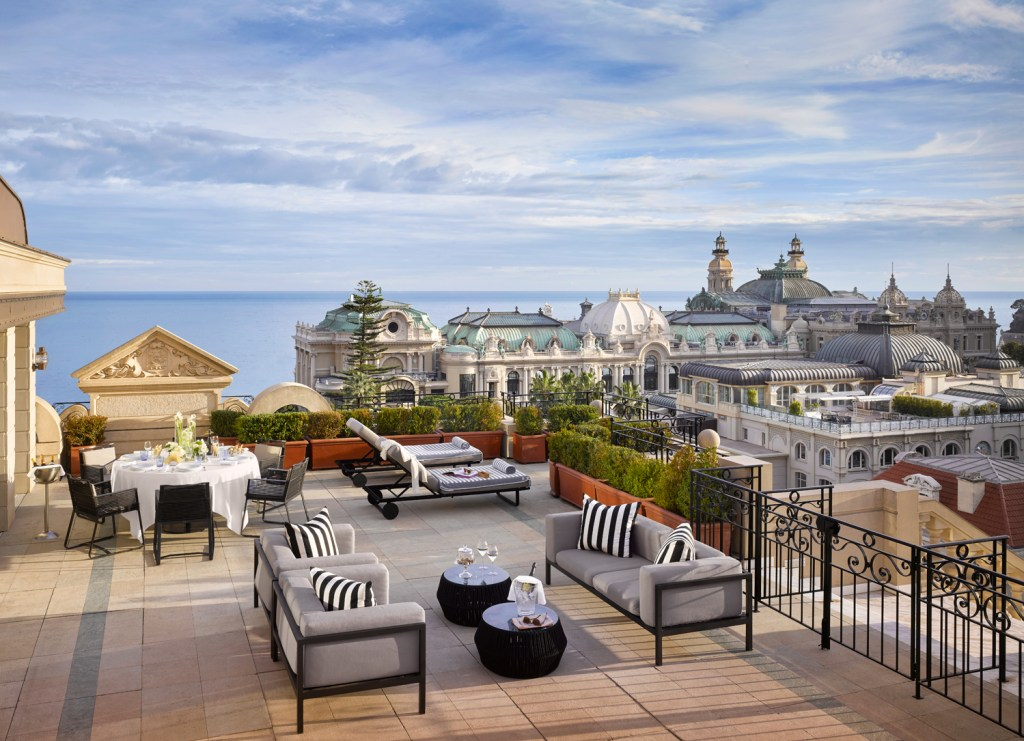 Hotel Metropole Monte-Carlo penthouse suite terrace.