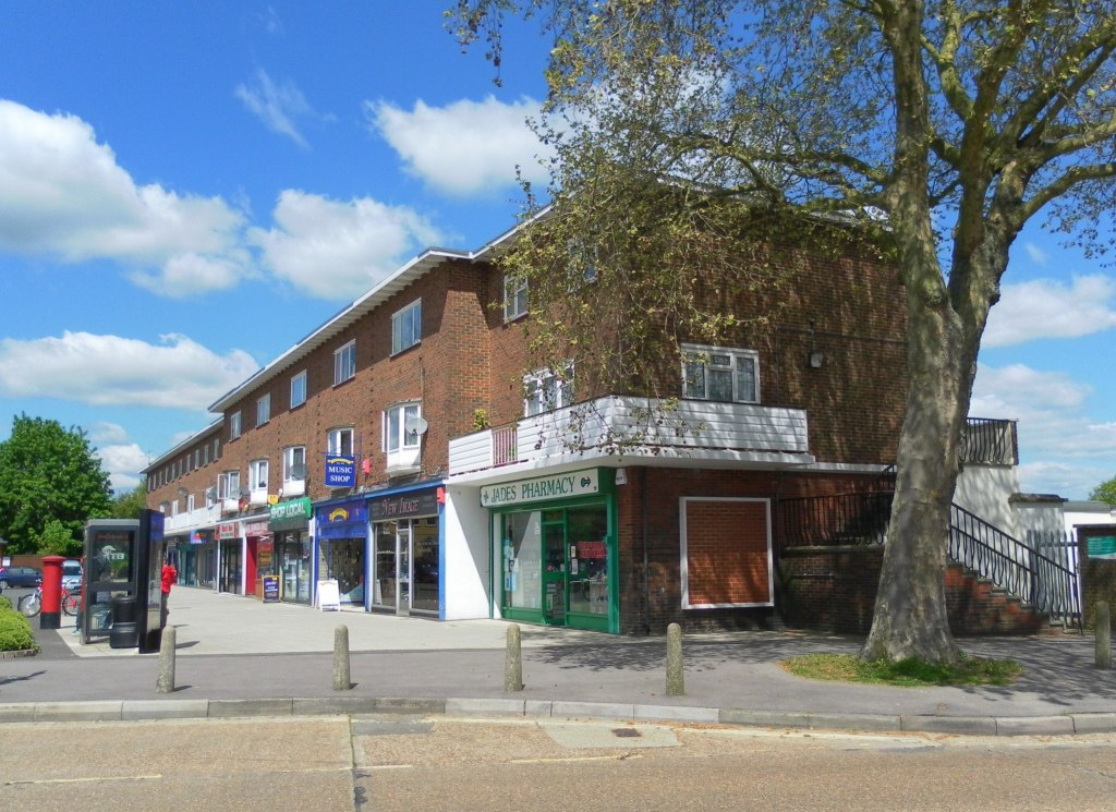 Northgate Shopping Parade, Crawley. Photograph by The Voice of Hassocks.