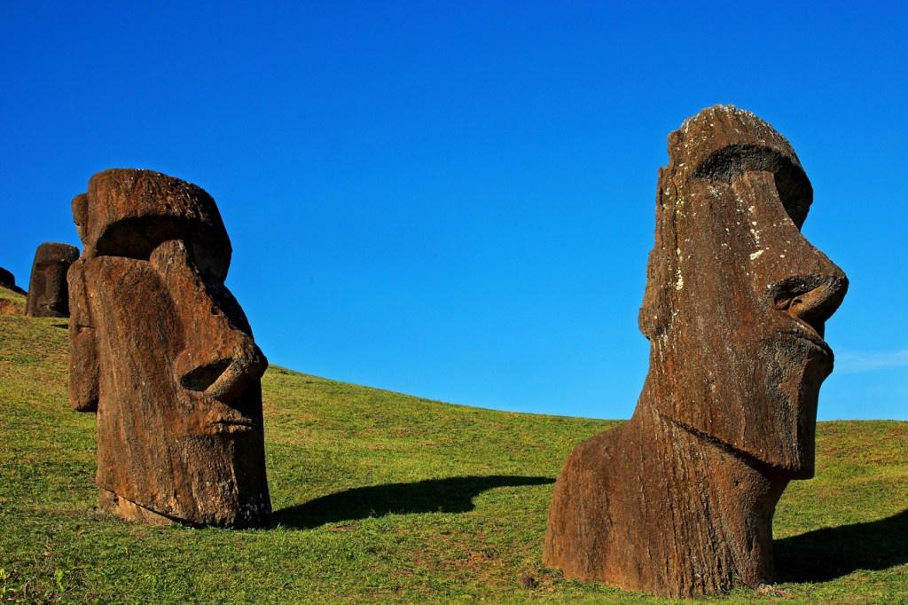 The Moai of Rapa Nui, Chile.