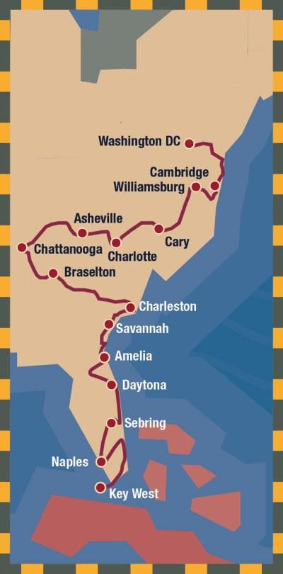 Carrera Atlantica: From the Nation's Capital to the Florida Keys 3
