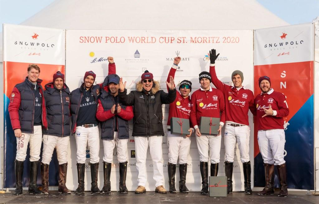 St. Moritz and Maserati Snow Polo teams 2020
