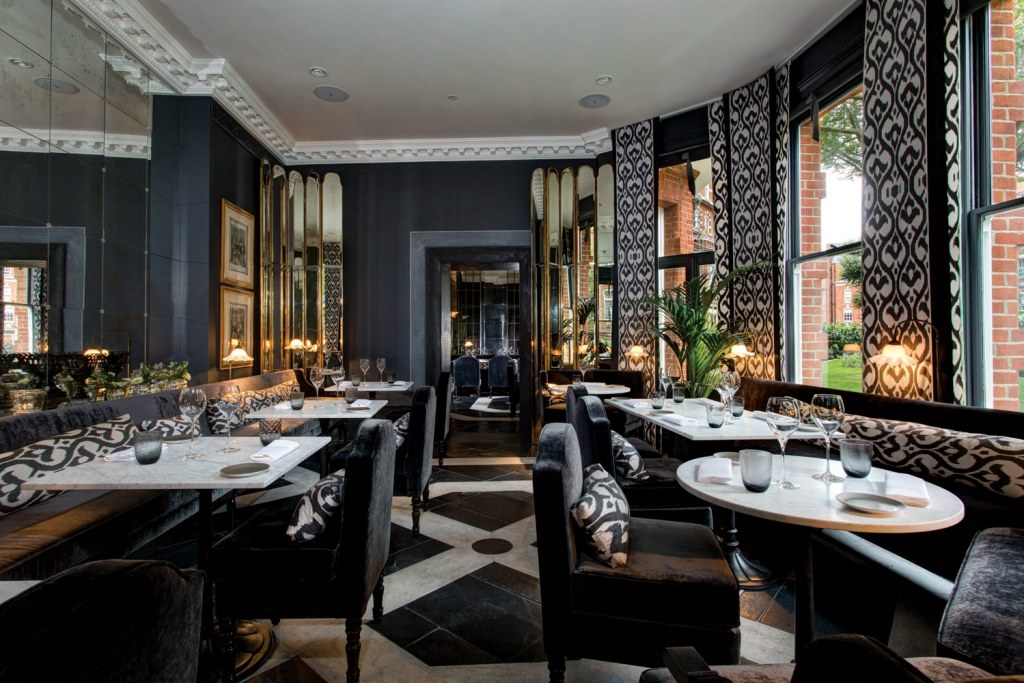 The restaurant at the Franklin Hotel in London