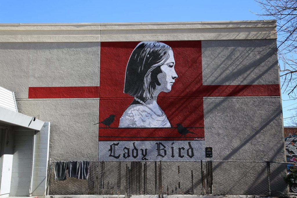 The Lady Bird Mural in Sacramento Northen California
