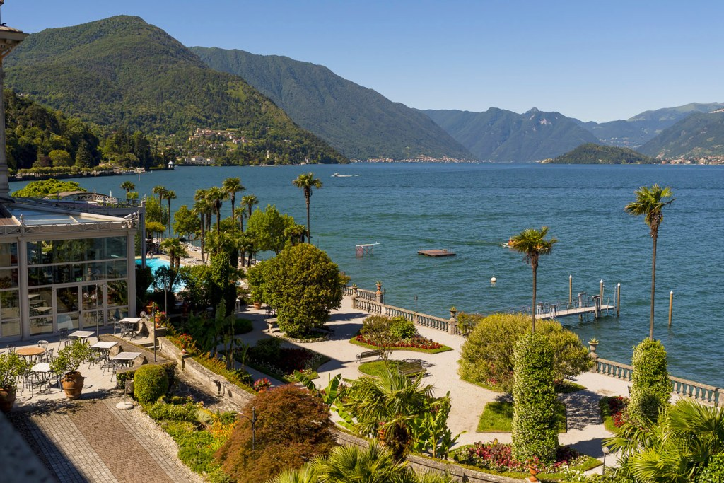 The grounds and garden at The Grand Hotel Villa Serbelloni