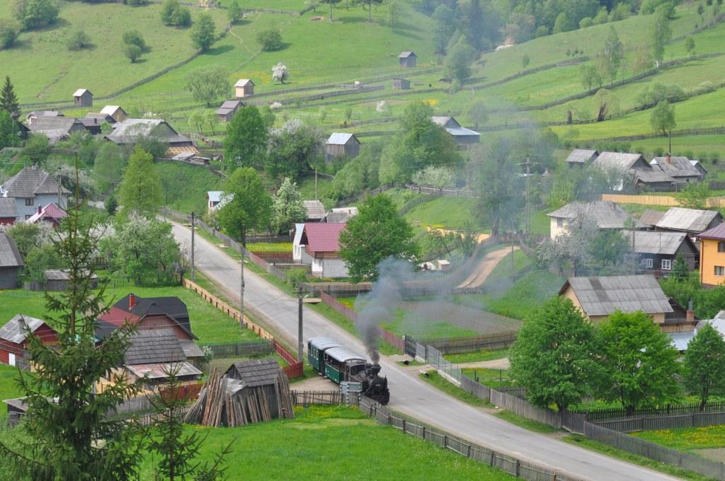Three steam narrow gauge railway in Romania