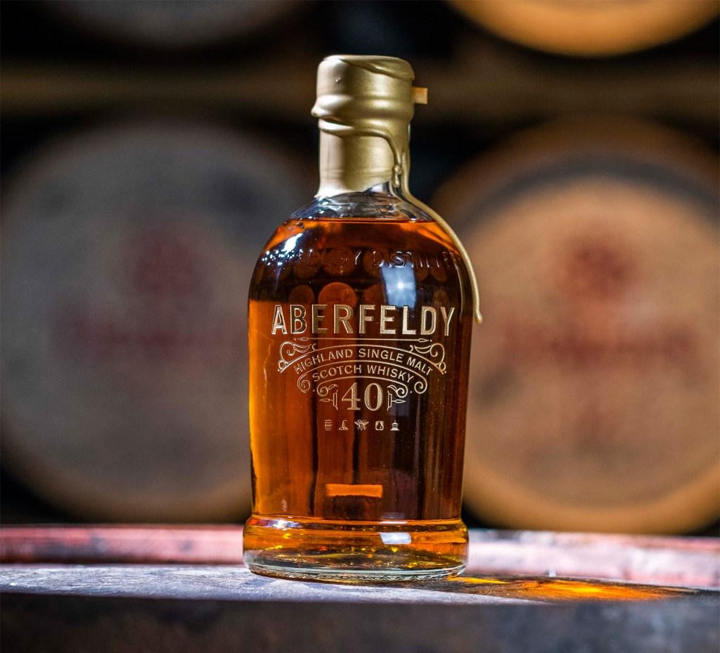 A bottle of Aberfeldy 40-Year-Old