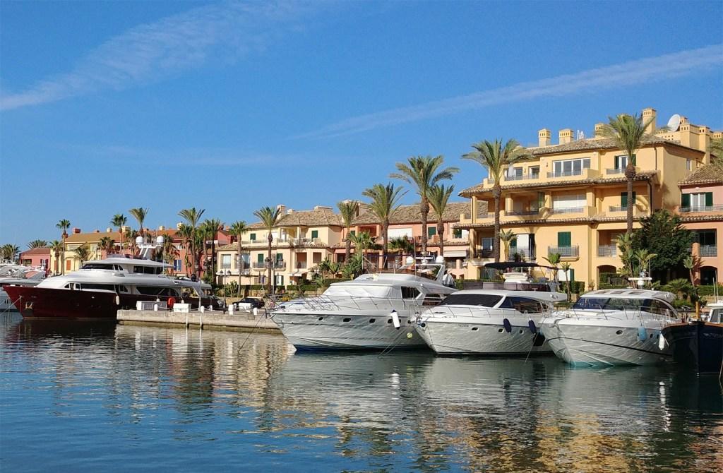 Boats at Sotogrande Marina in Cadiz
