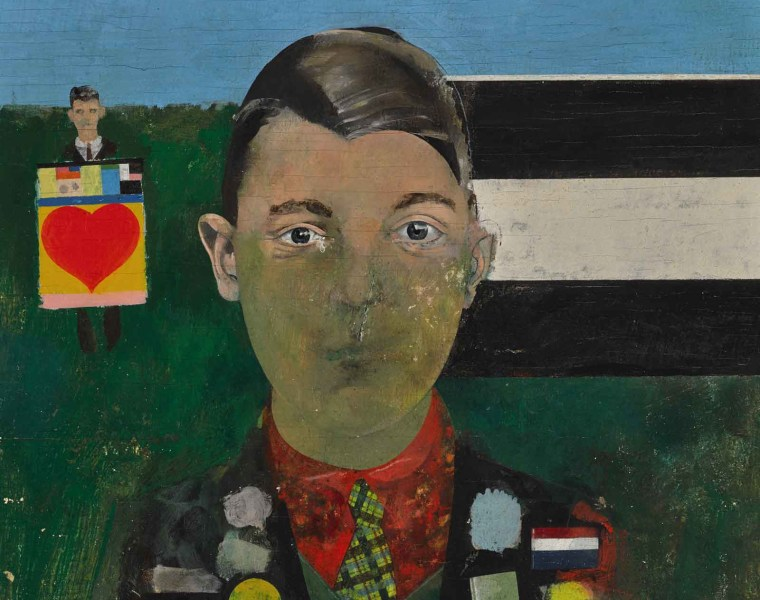 Peter Blake's Boy with Paintings Acquired by Pallant House Gallery
