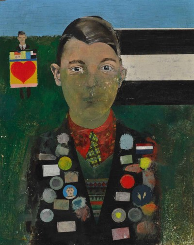 Peter Blake, Boy with Paintings