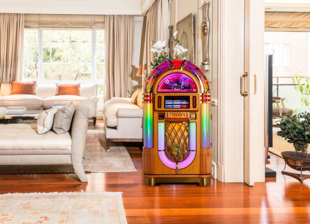 The Peacock, A Hand Crafted Luxury JukeBox Exclusively for Harrods