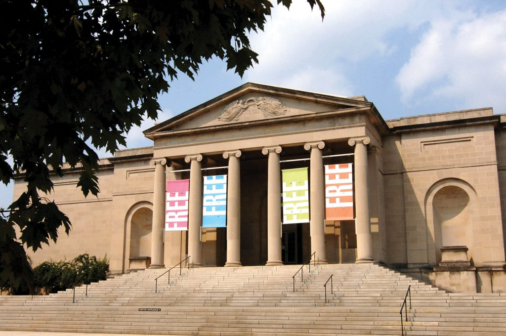 Steps leading to the Baltimore Museum of Art