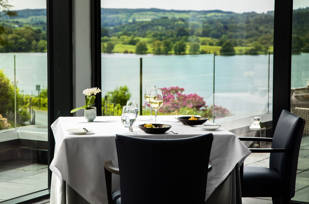 Views of the lake from the Samling Hotel restaurant