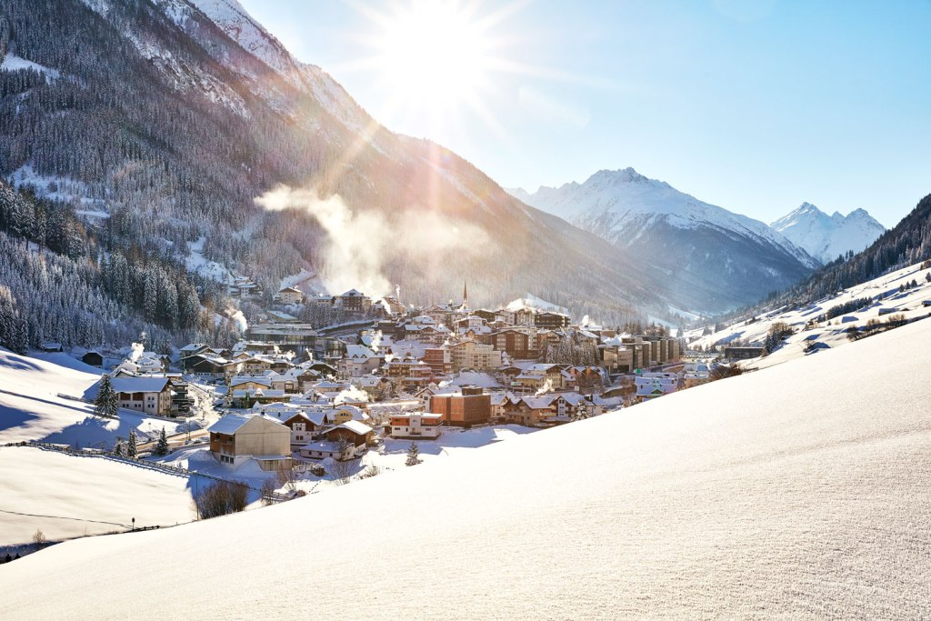 Beautiful photo of the village of Ischgl in Austria