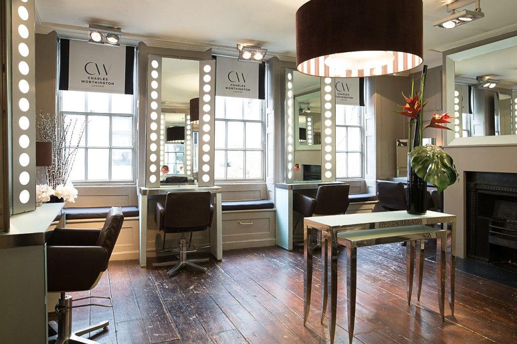 Inside the Charles Worthington salon