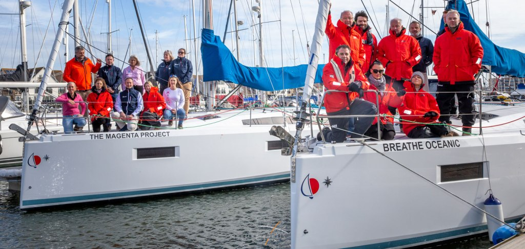 Welcoming boats from Sunsail's UK Charter Fleet