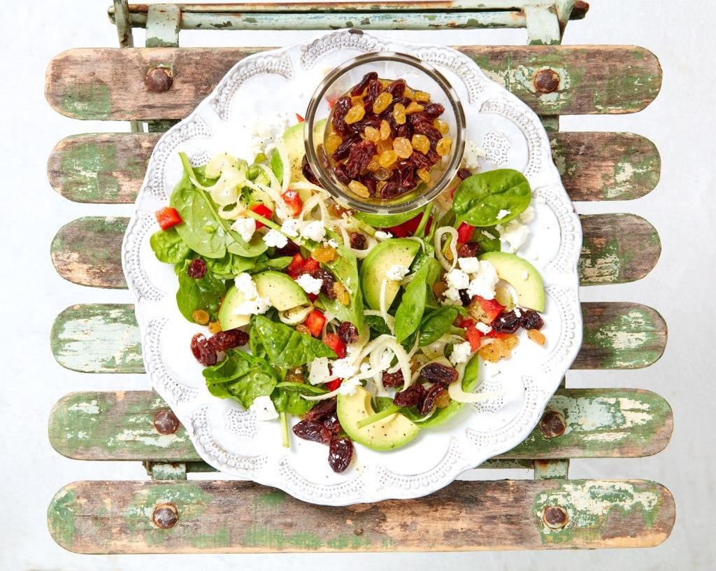 Juicy South African Raisin, Avocado and Feta Salad