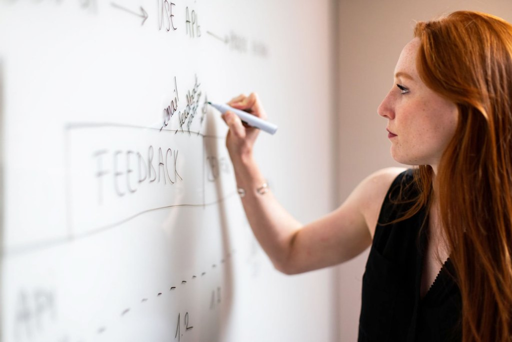 A Microsoft Whiteboard is ideal for a Virtual Creative Brainstorm