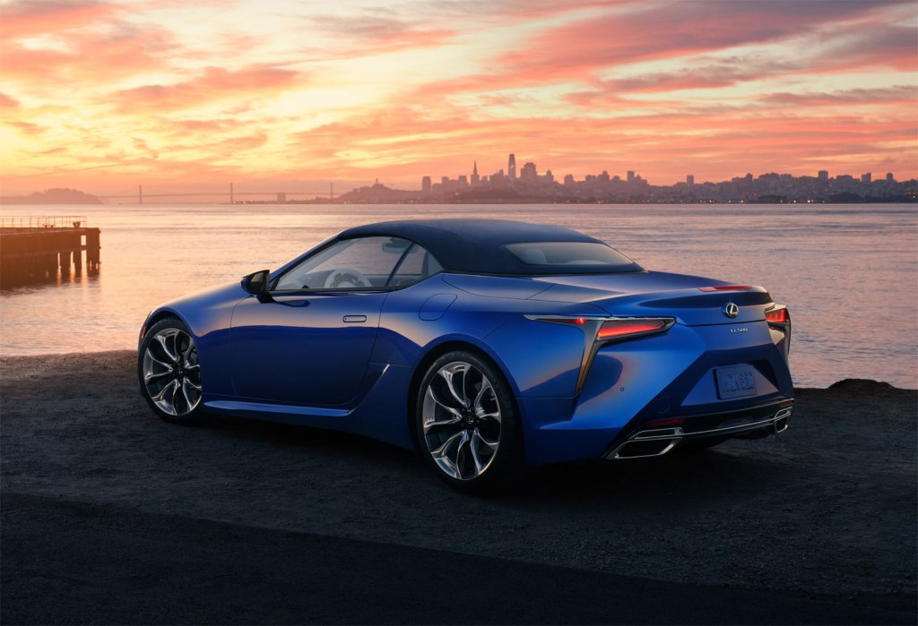 2020 Lexus LC Convertible roof up
