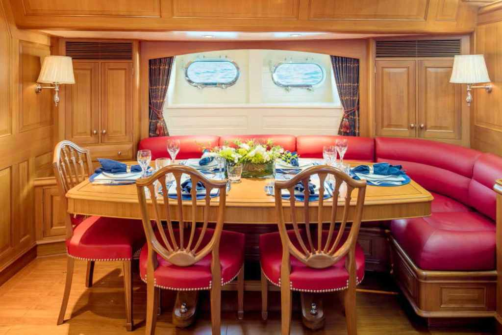 BLUE TOO sailing yacht dining area