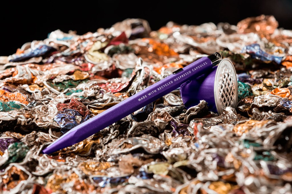Caran d'Ache and Nespresso recycled capsule pen