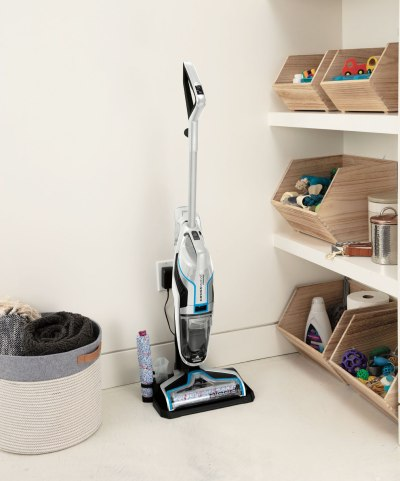 The Bissell Crosswave Cordless has up to 30 minutes of run time with one charge.