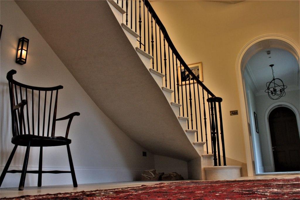 Tregavethan Manor stone staircase