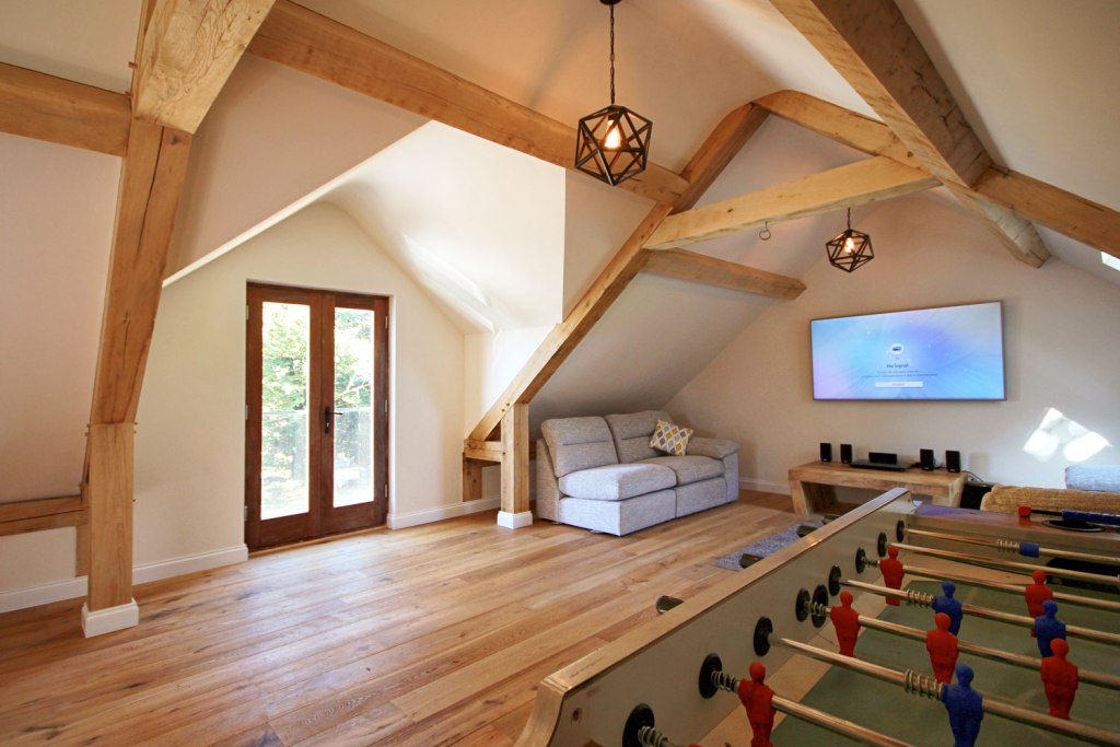Interior of a finished project by the Classic Barn Company