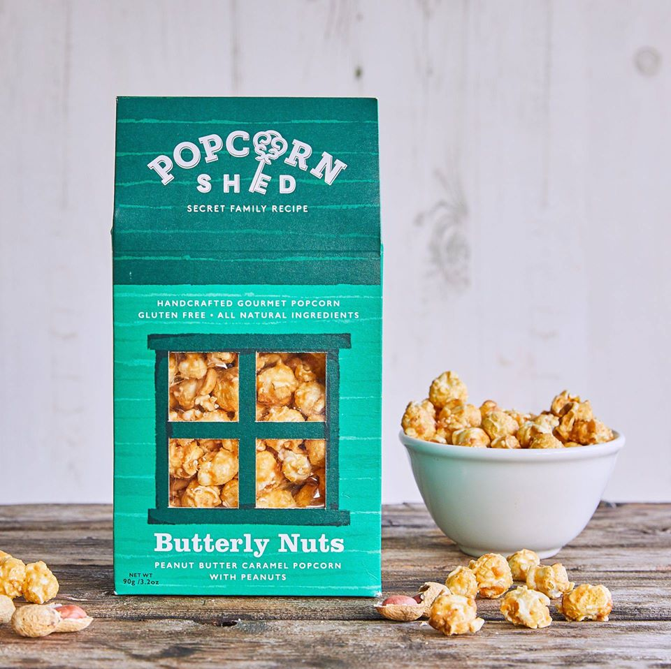 Butterly Nuts - Peanut Butter Caramel Popcorn with Roasted Peanut Halves